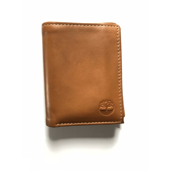 lower price with uk cheap sale famous brand Timberland brown genuine leather bi-fold wallet